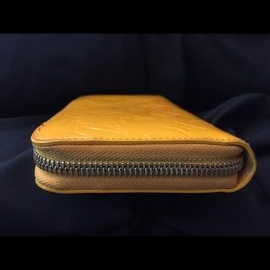 Louis Vuitton Bags - Sold Louis Vuitton Vernis Yellow Zippy Wallet